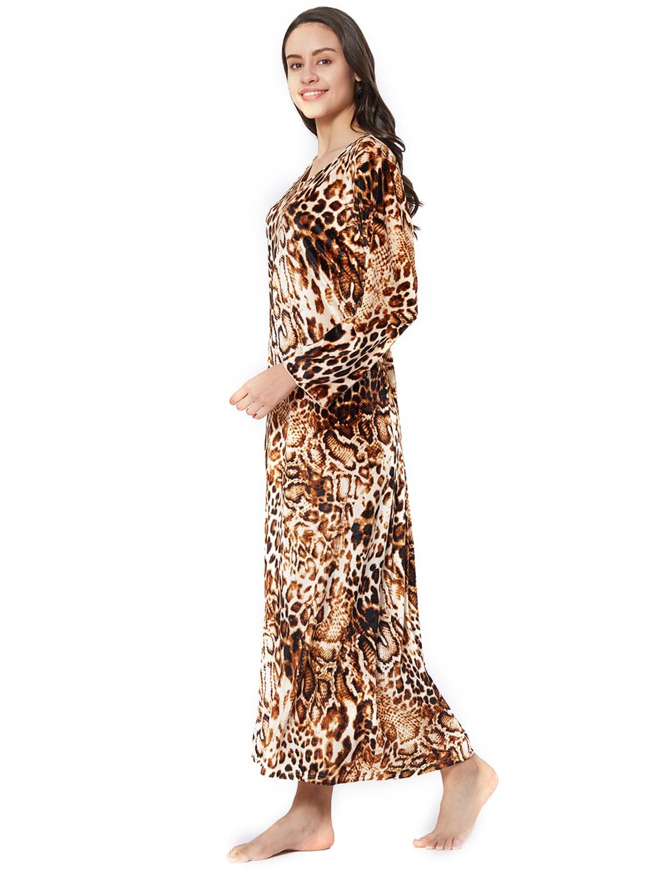 Buy Animal Print Velvet Nightwear Gown by Velvet By Night - Online shopping  for Gowns   Kimonos in India  80913db52