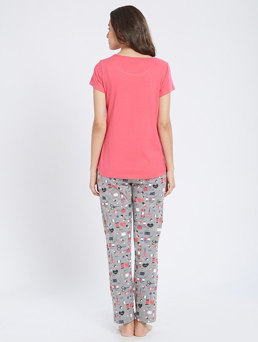 Buy Quirky Print Nightwear Pajama Set by Mystere Paris - Online shopping  for Nightwear Sets in India  83f667e57
