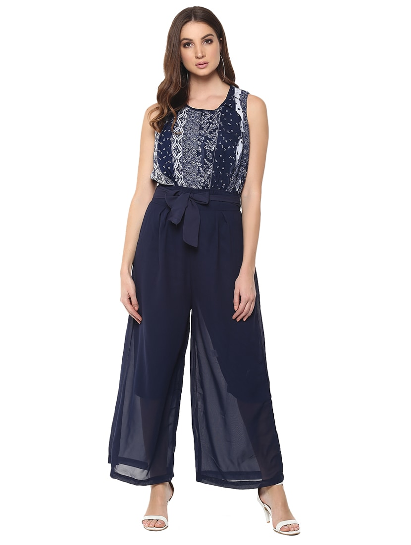 9e0e14aa1e32 Buy Self Tie Sleeveless Full Leg Jumpsuit for Women from Mayra for ₹600 at  60% off