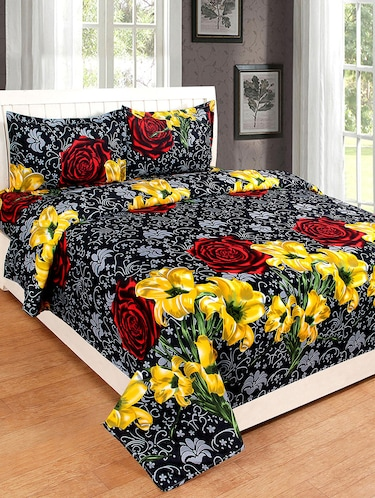 Double Bed Polycotton Bedsheet with 2 Pillow Covers - 15776908 - Standard Image - 1