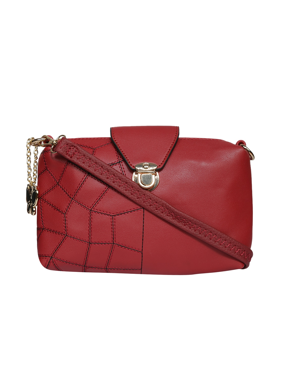845fe47194a4 Buy Red Leatherette (pu) Regular Sling Bag by Butterflies - Online shopping  for Sling Bags in India