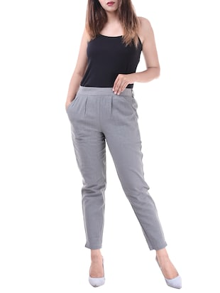 Pleated front gathered back trousers - 15784933 - Standard Image - 4