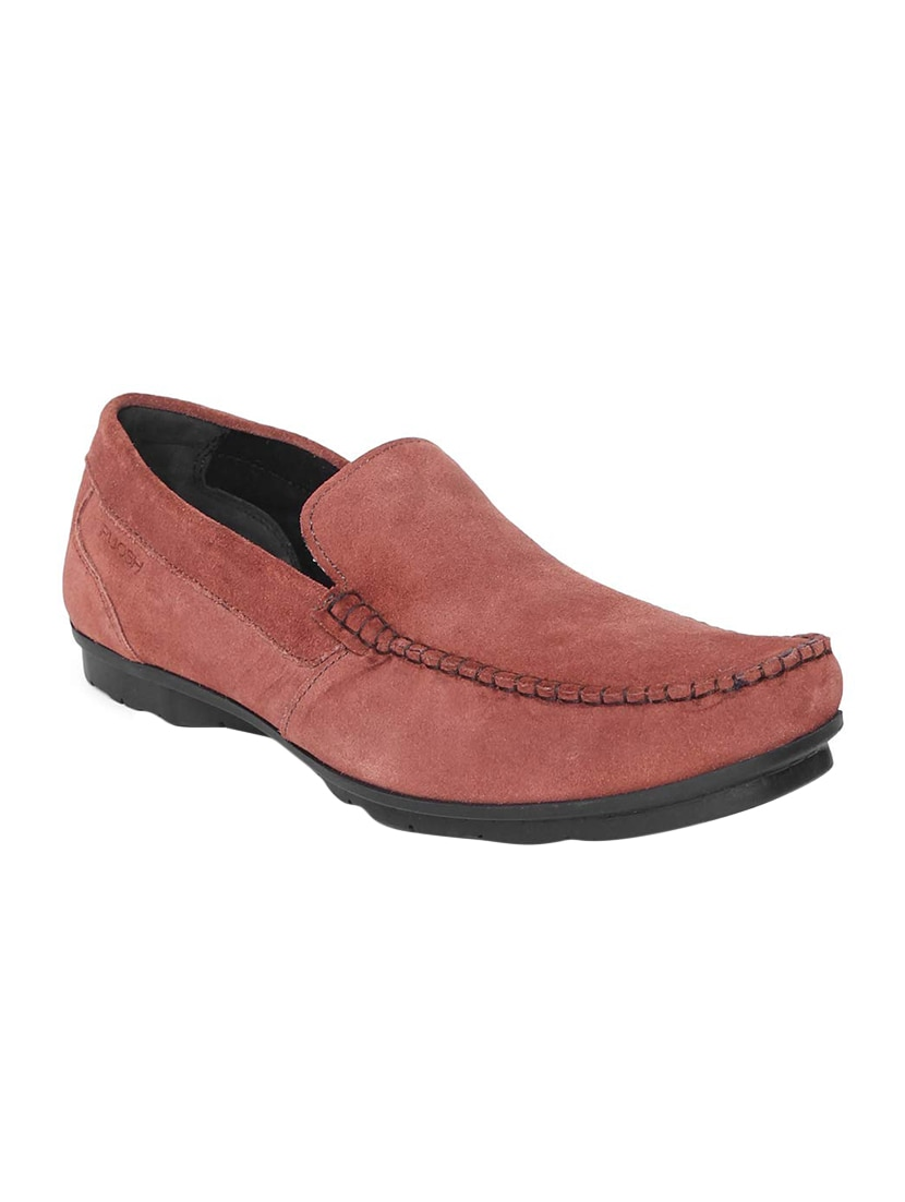 215a2c49817 Buy Red Suede Slip On Loafers for Men from Ruosh for ₹2531 at 37% off