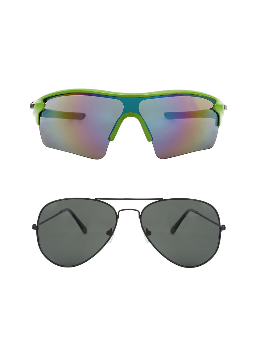 0fcd76a8163 Buy Combo Of 2 Wrap-around   Aviator Sunglasses- Abcom3441 by Abner -  Online shopping for Men Sunglasses in India