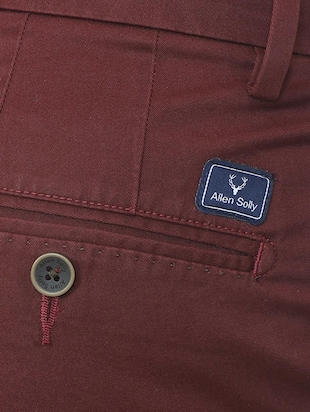 red cotton chinos - 15814606 - Standard Image - 4