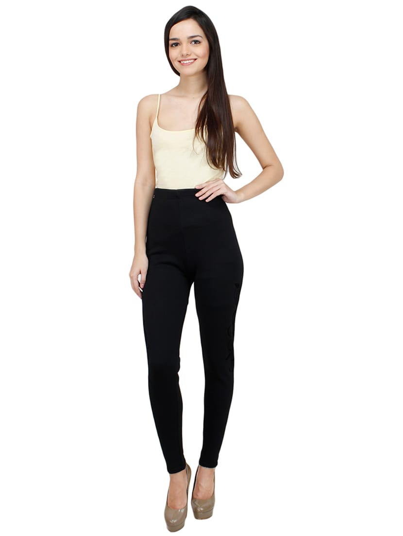 69f1e8ef046e95 Buy High-rise Woolen Printed Leggings for Women from Camey for ₹892 ...