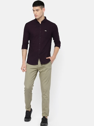 green cotton chinos - 15815351 - Standard Image - 4