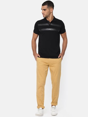 brown cotton chinos casual trousers - 15815358 - Standard Image - 4