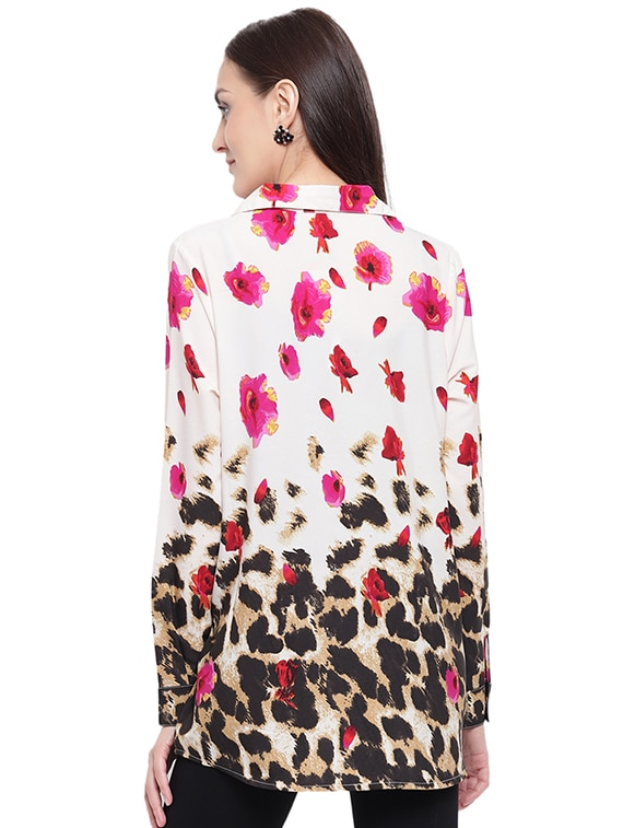1e7ed4191e Buy Floral Animal Print Shirt by The Gud Look - Online shopping for Shirts  in India