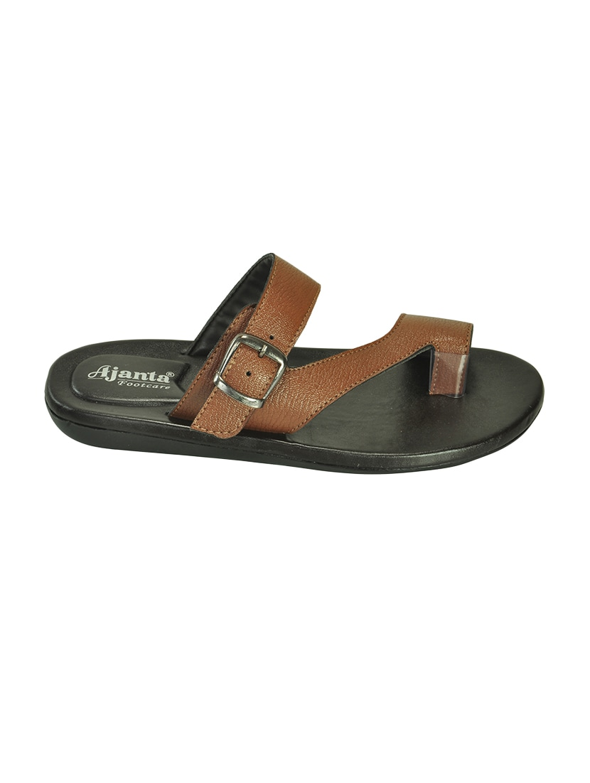 c5a30dcd910c Buy Brown Leather Slip On Slippers for Men from Ajanta for ₹699 at 0% off
