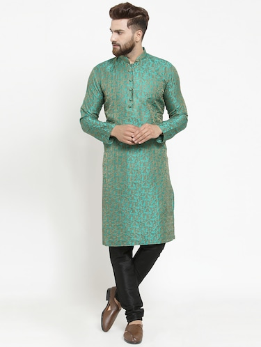 7150acdae71050 Buy green colour kurta pajama for boys 11 years in India   Limeroad