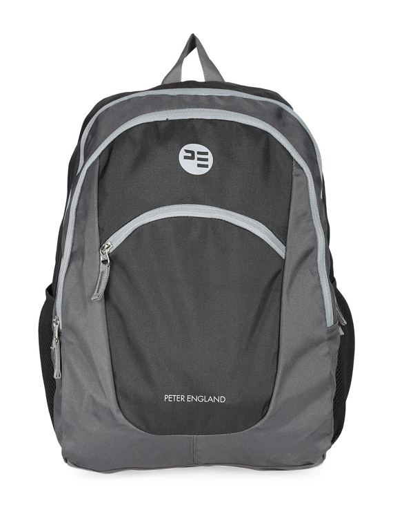 4c3197fe6be Buy Grey Polyester Backpack by Peter England - Online shopping for Backpacks  in India   15833966