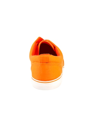 orange Canvas lace up sneakers - 15834224 - Standard Image - 4