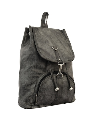 grey leatherette (pu) fashion backpack - 15859028 - Standard Image - 4