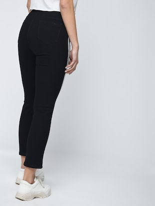 knee slit side stripe jeans - 15859290 - Standard Image - 4