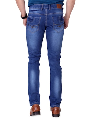 blue denim washed jeans - 15863341 - Standard Image - 4