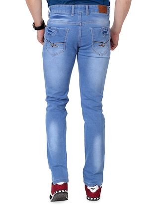 blue denim washed jeans - 15863341 - Standard Image - 7