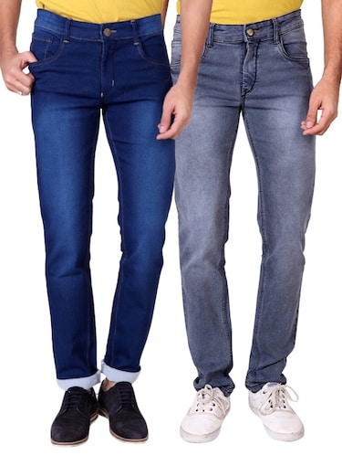 multi colored denim washed jeans - 15863361 - Standard Image - 1