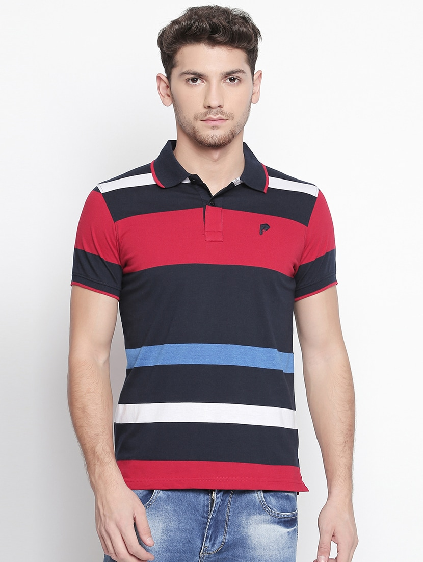 07781157c9b Buy Multi Colored Striped Polo T-shirt for Men from Zido for ₹800 at 50%  off