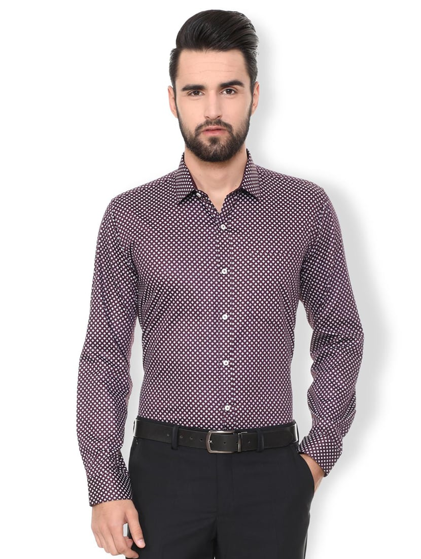 67e0734e590 Buy Red Checkered Formal Shirt for Men from Van Heusen for ₹1044 at 45% off