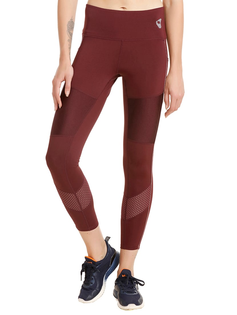 c3ba722d8 Buy High Rise Dotted Paneled Legging by Zelocity By Zivame - Online  shopping for Leggings in India