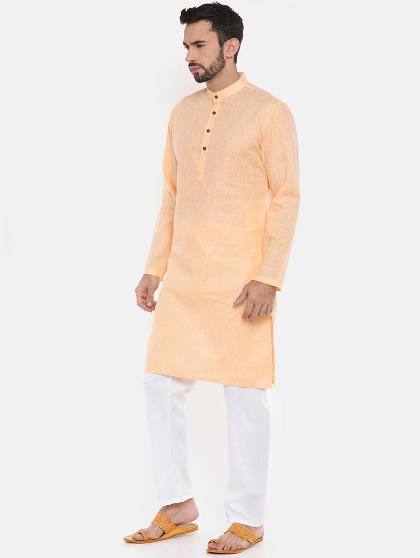 7af6d0f7f Buy Orange Cotton Kurta Pyjama Set by Freehand - Online shopping for Ethnic  Wear Sets in India