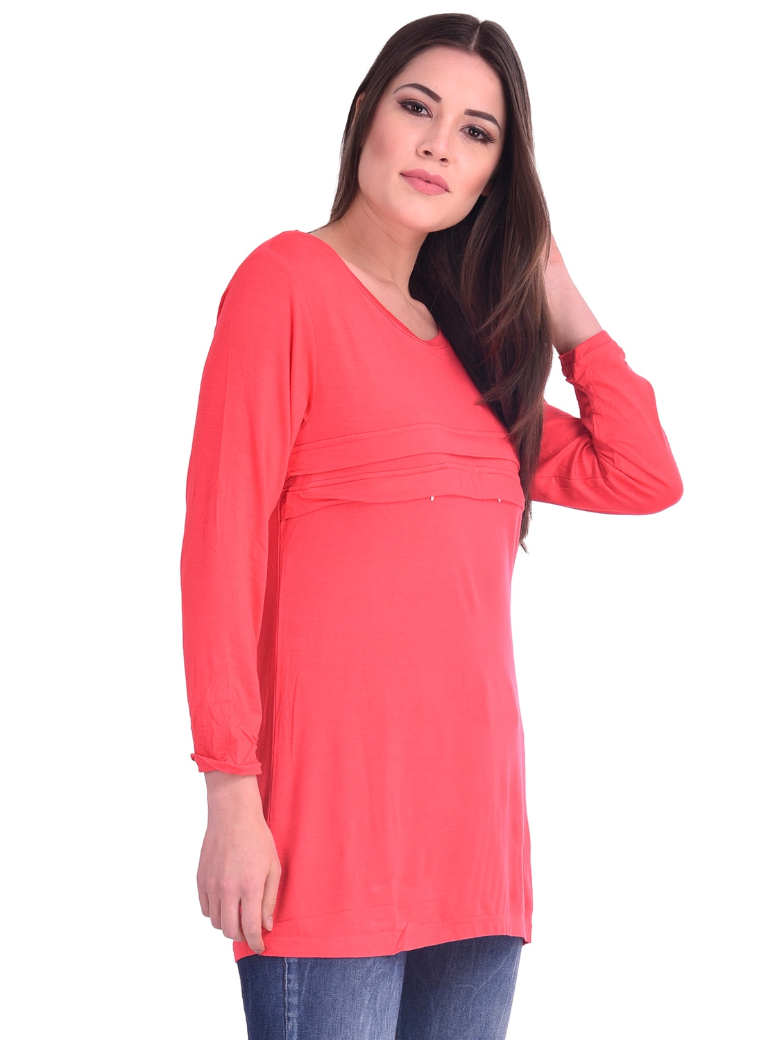 1c0fb7e9d98 Buy Long Sleeved A-line Tunic for Women from Dear Darling for ₹387 at 52%  off | 2019 Limeroad.com