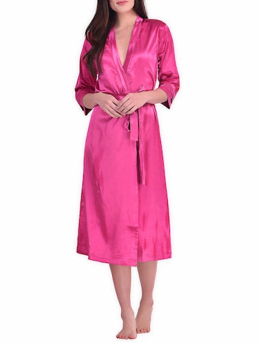 d37b03d51a7 Buy Beige Solid Satin Sleepwear Robe for Women from You Forever for ...
