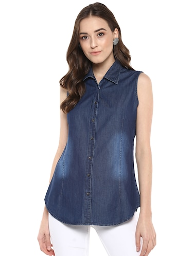 7c43350c16e Denim Shirts - Buy Denim Shirts for Women Online in India