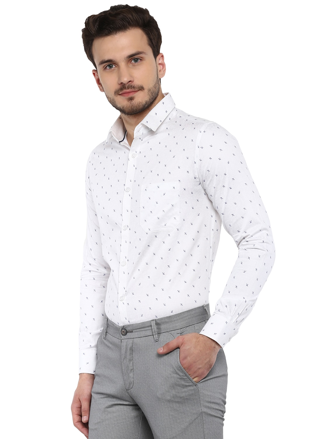 0554286cffce Buy White Printed Formal Shirt by Speak - Online shopping for Formal Shirts  in India