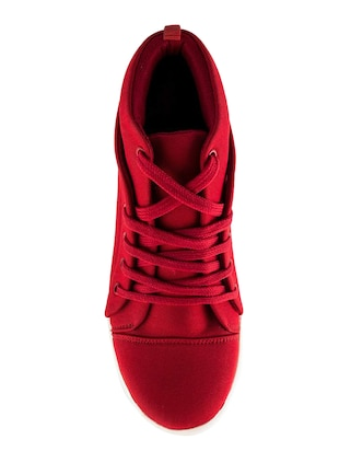 red lace-up sneakers - 15883805 - Standard Image - 4