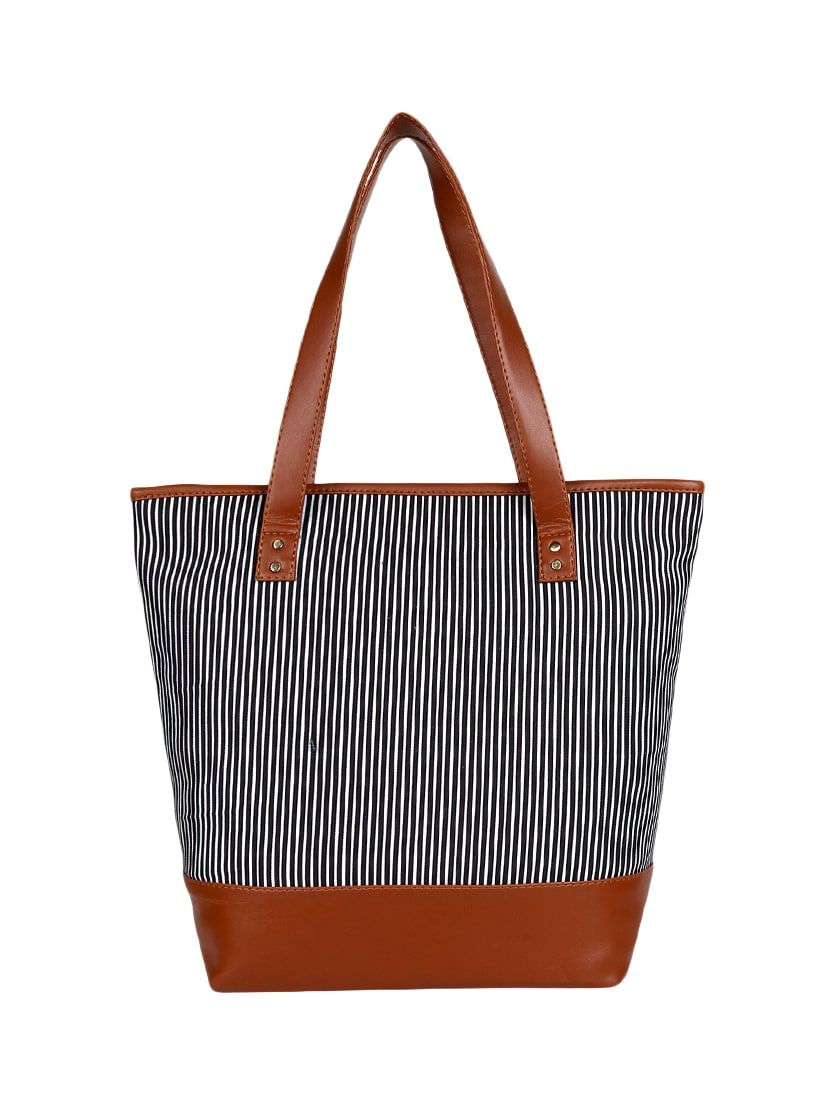 7bb65513c46a Buy Black Canvas Regular Tote by Lychee Bags - Online shopping for Totes in  India