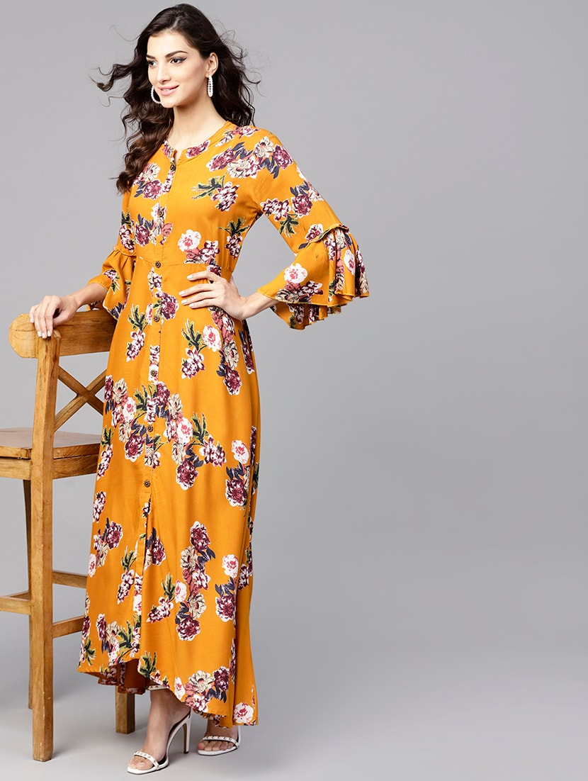 7017b527e4 ... A-line floral bell sleeves dress - 15894319 - Zoom Image - 4