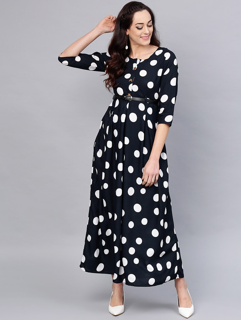 7ccd7afd77a1 Buy Flared Polka Dot Dress for Women from Anaisa for ₹1318 at 60 ...