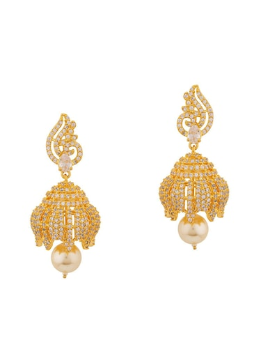 8bf376023 Buy Gold Copper Jhumka Earrings for Women from Pourni for ₹541 at ...