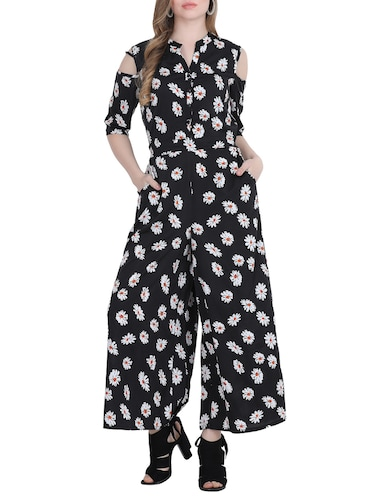 f97703900c67 Black Printed Three Quarter Sleeved Jumpsuit. Product Code   9667324.  Seller Details. SIMILAR. COLOUR. BRAND. Offer. Festive Sale
