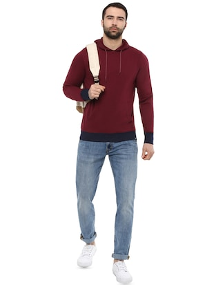 red cotton sweatshirt - 15901841 - Standard Image - 4