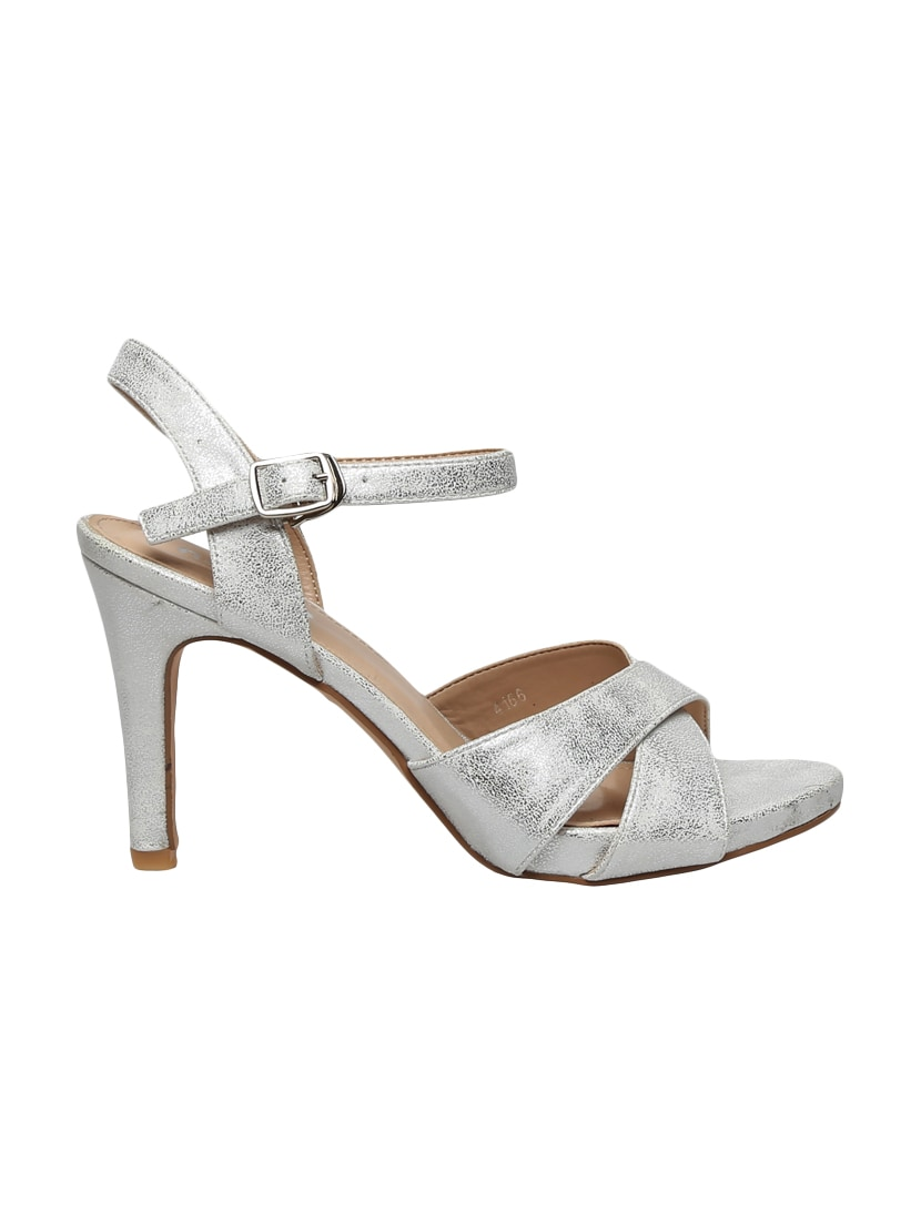 6313c69ebee Buy Silver Ankle Strap Sandals for Women from Notion London for ₹1332 at 42%  off