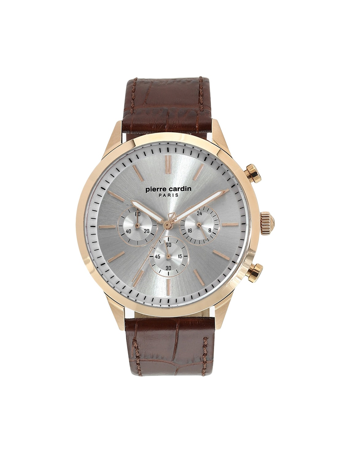 7469c85e5bd458 Buy Leather Strap Chronograph Watch (a.pc902361f04u) for Men from Pierre  Cardin for ₹6596 at 40% off