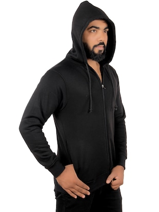 black fleece sweatshirt - 15908335 - Standard Image - 4