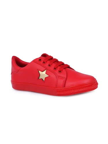 red lace-up sneakers - 15912924 - Standard Image - 1