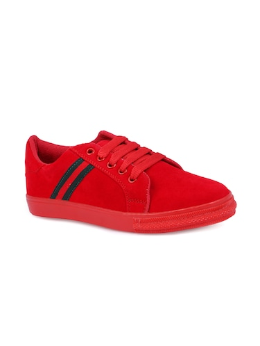 red lace-up sneakers - 15912930 - Standard Image - 1