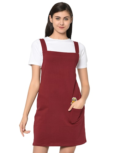 quirky patch pinafore dress with tee - 15914020 - Standard Image - 1