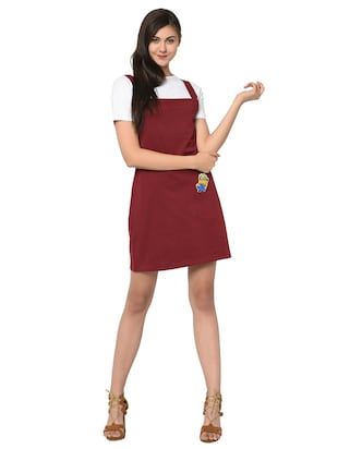 quirky patch pinafore dress with tee - 15914020 - Standard Image - 4