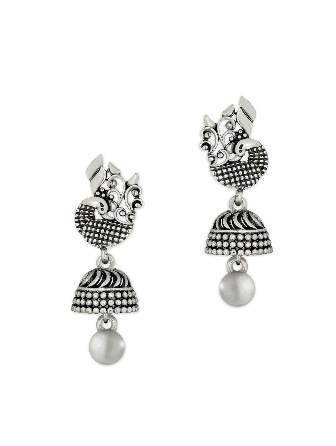 bec404aa7 Buy Silver Metal Jhumka Earring for Women from Spargz for ₹309 at 70% off |  2019 Limeroad.com
