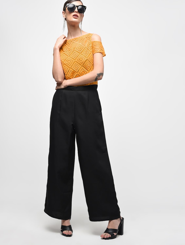 dead62cbd845 Buy Cold Shoulder Color Block Jumpsuit for Women from Eglantina for ₹1132  at 37% off