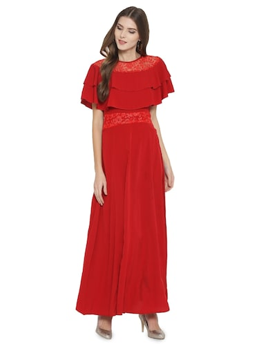 lace paneled maxi dress - 15931044 - Standard Image - 1