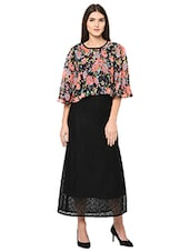 c5d009ae61366 Buy Black Printed Georgette Dress for Women from Amadore for ₹644 ...