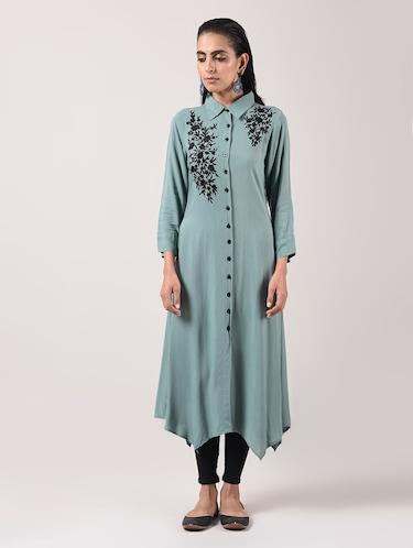 01a7cf2cd32a6 Grey Kurta- Buy Grey Party Wear Kurtis, Fashionable Kurtis Online in India