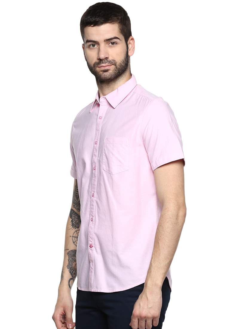 328c0e18f9 Buy Pink Solid Casual Shirt for Men from Red Chief for ₹1006 at 33% off
